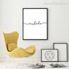 Minimal exhale Letters Digital Canvas Print