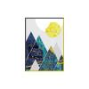 Line Mountains Sun Geometric Pattern Prints