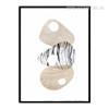 Geometric Conch Shell Minimal Digital Art