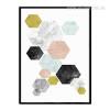 Geometric Hexagon Minimal Canvas Print