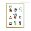 Cactus Plants in Pot Wall Decor