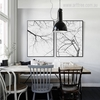 Black and White Tree Branch Canvas Prints