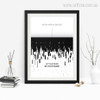 Work Hard In Silence Inspiring Quote Digital Painting Print