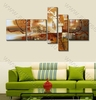 Brown 5 Panel Group Canvas Art