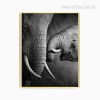 Wild Elephant Animal Love Digital Print
