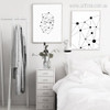 Geometric Triangles Connected with Dots, Lines Wall Art Prints