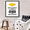 Always Be Yourself Batman Cartoon Quote Wall Art