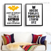 Always Be Yourself Batman, ABCD Words Quote Print