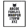 Batman Mask ABCD Alphabets Words Print