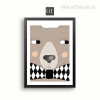 Kawaii Bear Cartoon Animal Photo Canvas Prints