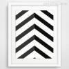 Black Chevron Geometric Pattern Decorations Canvas Print
