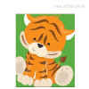 New Baby Tiger Animal Photo Canvas Print