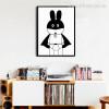 Super Hero Batman Bunny Cartoon Photo Canvas Print