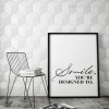 Smile You're Designed To Inspirational Quotes Canvas Print