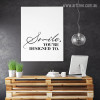 Smile You're Designed To Inspirational Quotes Print on Canvas