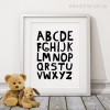 ABC Alphabets Black and White Kids Baby Girl Art