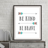 Arrows Be Kind Be Brave Nice Quotes Canvas Wall Art