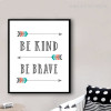 Arrows Be Kind Be Brave Quotes Canvas Prints Online
