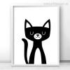 Cute Animated Kitty Cat Animal Cartoon Baby Nursery Decor
