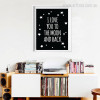 I Love You To The Moon and Back Classic Quote Stars Wall Art