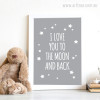 I Love You To The Moon and Back Stars Digital Art