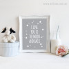 I Love You To The Moon and Back Stars Nursery Canvas Print