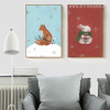 Snow Theme Fox, Rabbit Animal Art Pieces