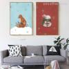 Snow Theme Fox Rabbit Animal Print Set of 2
