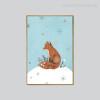 Snow Theme Fox Animal Digital Print