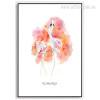 Watercolor Flamingo Bird Pink Digital Art Print