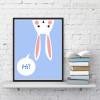 Hi Bunny Face Canvas Artwork