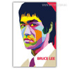 Popular Bruce Lee Kongfu Martial Master Pop Art