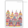 Colorful Temples Modern Wall Decor