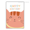 Happy Birthday Cat Animal Wall Art