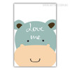 Love Me Hippo Canvas Print
