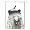 Cute Grey Bear Animal Art