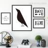 Minimal Crow, Eternity, Be free, Love Quotes and Sayings Canvas Prints