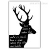 Love Does and Make the World Typography Deer Animal Print