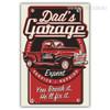 Dad's Garage Expert Service Repair You break it He'll Fix It Vintage Poster Print