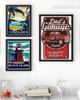 Costa Rica, Block Island, Dads Garage Vintage Prints