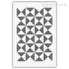 Geometric Grey Triangles Abstract Pattern Wall Art