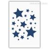 Twinkling Blue Stars Modern Art
