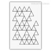 Geometric Black and White Triangles Abstract Pattern Wall Art