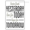 Learn From Yesterday Live For Today Quote Black and White Wall Art