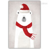 Kawaii Christmas Polar Bear Animal Print