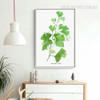 Watercolor Green Fresh Spring Palm Leaf Print