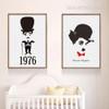Comic Actor Charlie Chaplin Canvas Photo Prints