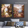 Retro Vintage Seascape Scenery Mediterranean Vatican Canvas Prints