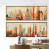 Urban Architecture Cityscape Retro Canvas