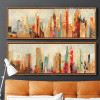 Urban Architecture Cityscape Retro Art